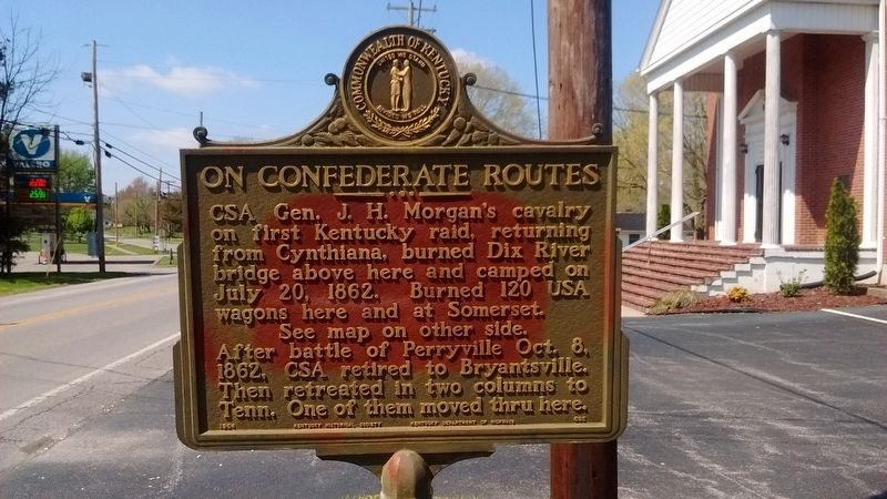 On Confederate Routes Marker (Front) image. Click for full size.