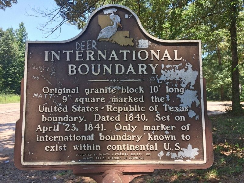 International Boundary Marker image. Click for full size.