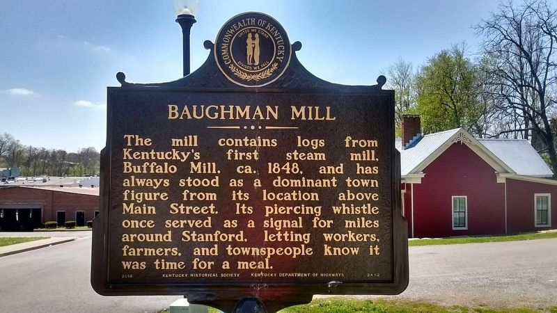 Baughman Mill Marker (Side 2) image. Click for full size.