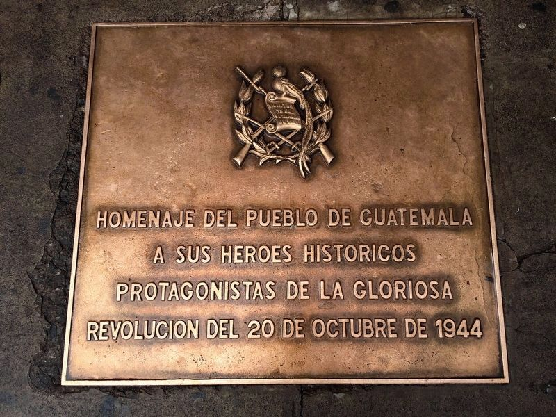 Guatemalan Revolution of 1944 Marker image. Click for full size.