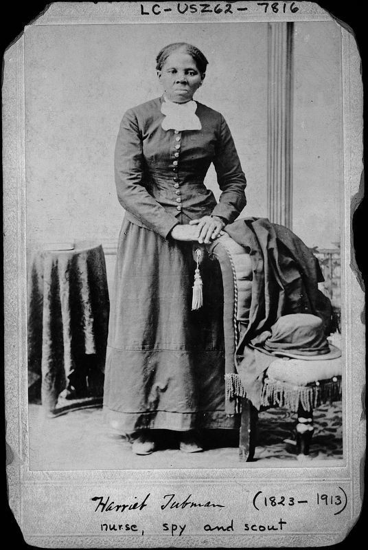 <i>Harriet Tubman (1823 - 1913): Nurse, Spy and Scout</i> image. Click for full size.