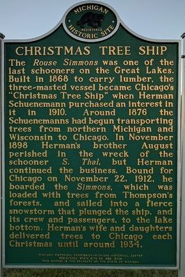 Christmas Tree Ship / Thompson Marker image. Click for full size.