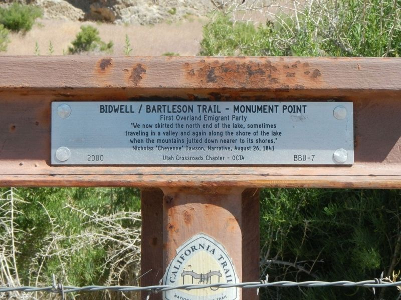 Bidwell/Bartleson Trail - Monument Point Marker image. Click for full size.
