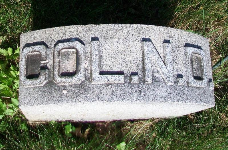 Colonel Nathan Denison Grave Marker in Forty Fort Cemetery image. Click for full size.