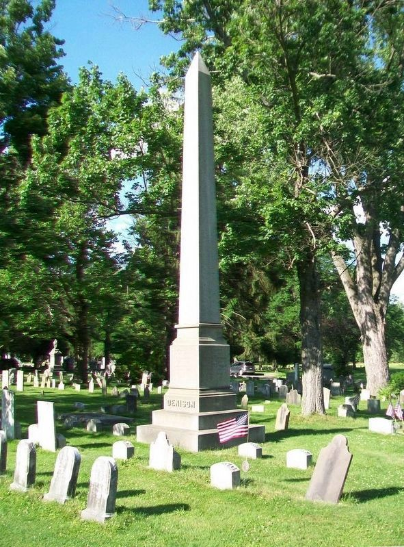 Denison Family Monument in Forty Fort Cemetery image. Click for full size.