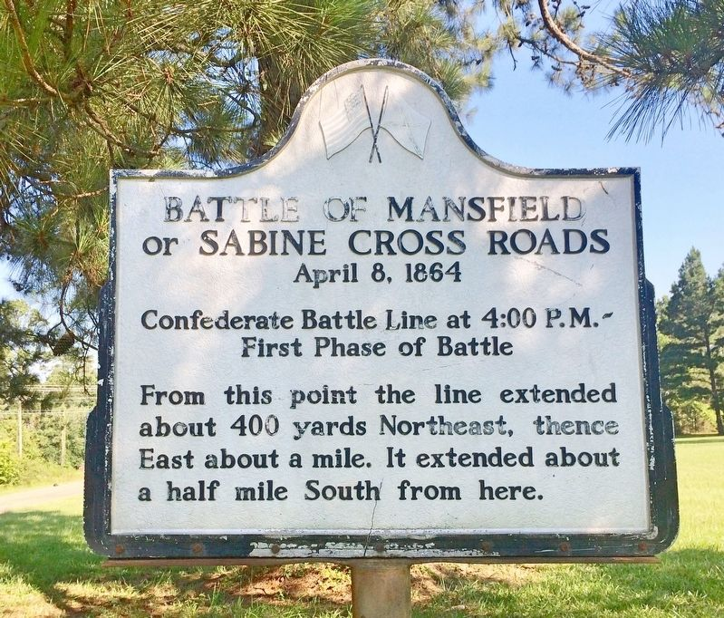 Battle of Mansfield or Sabine Cross Roads Marker image. Click for full size.