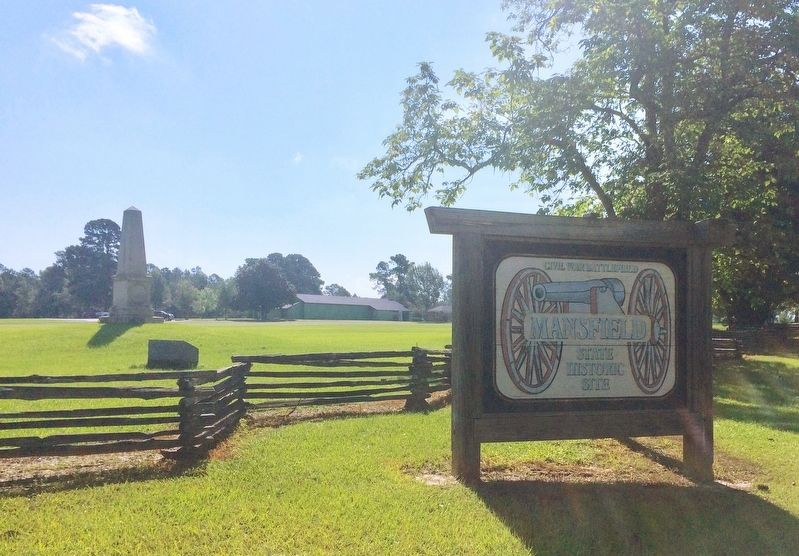 Mansfield Battlefield State Historic Site entrance. image. Click for full size.