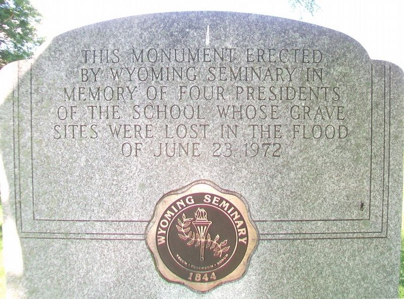 Wyoming Seminary Presidents' Lost Graves Memorial Marker image. Click for full size.