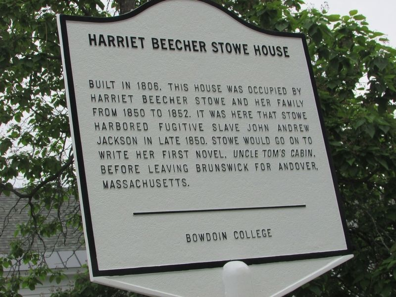 Harriet Beecher Stowe House Marker image. Click for full size.