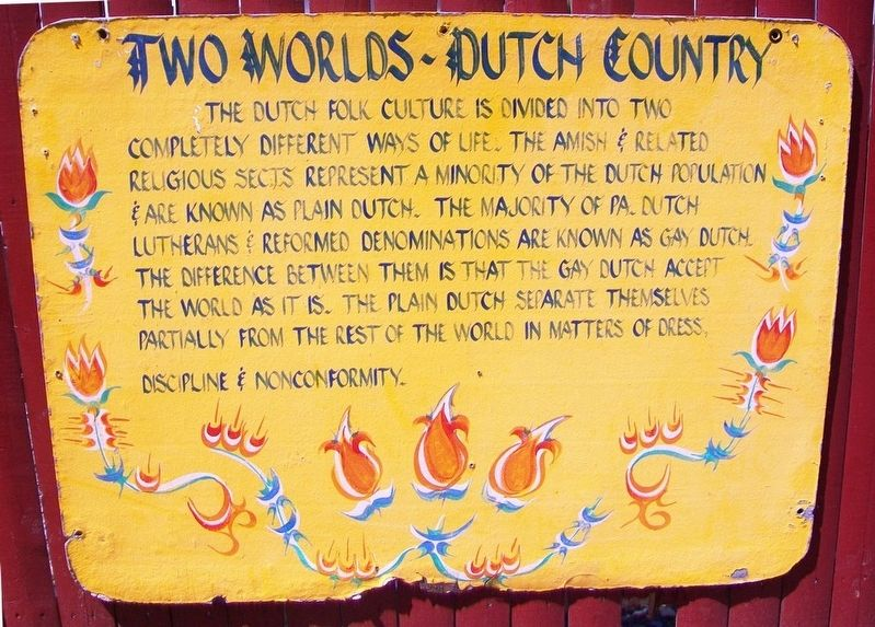 Two Worlds - Dutch Country Marker image. Click for full size.