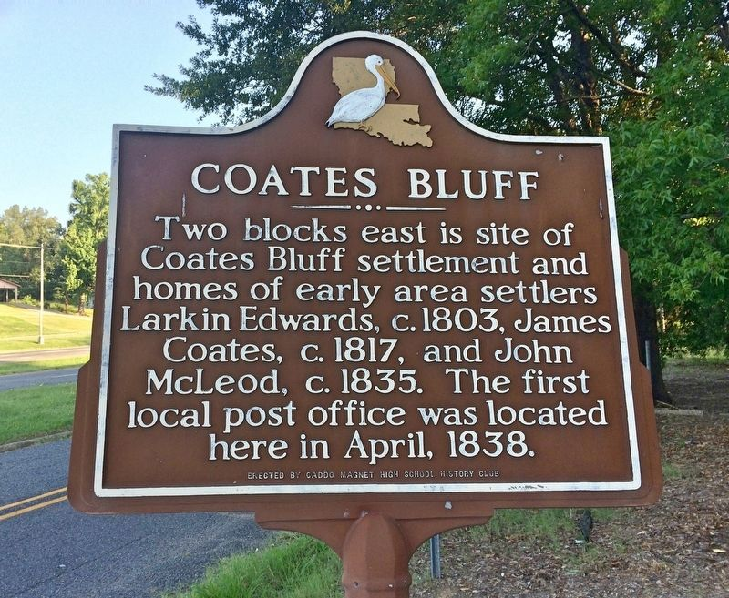 Coates Bluff Marker image. Click for full size.