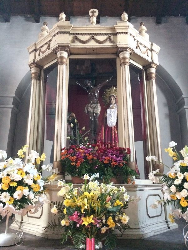 A ¨Black Christ¨ in the Church of San Francisco of Tecpán image. Click for full size.