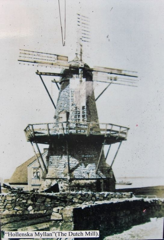 Bankastraeti 10 Marker: Closeup of Photograph of Mill image. Click for full size.