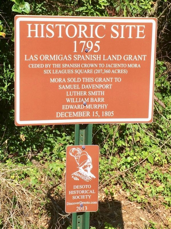 Las Ormigas Spanish Land Grant Marker image. Click for full size.