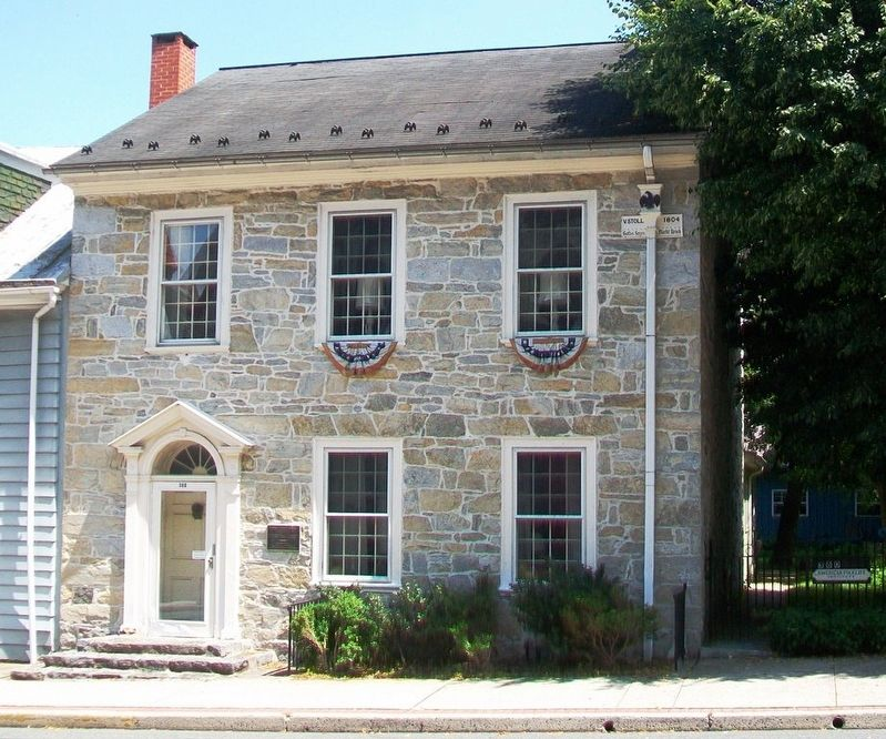 Town Crier's House and Marker image. Click for full size.