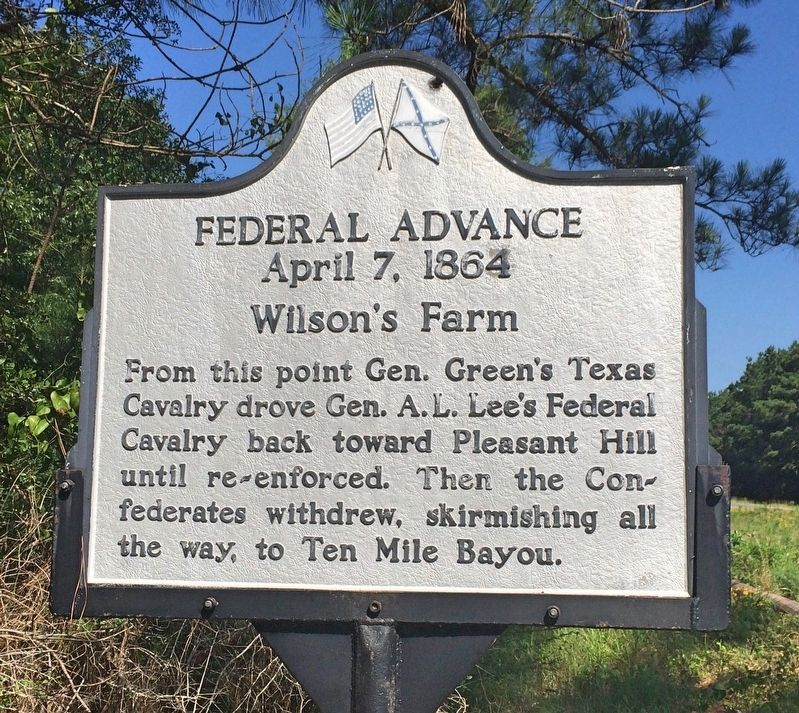 Federal Advance, Wilson's Farm Marker image. Click for full size.
