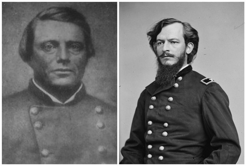 Confederate General Thomas Green / Union General Albert L. Lee image. Click for full size.