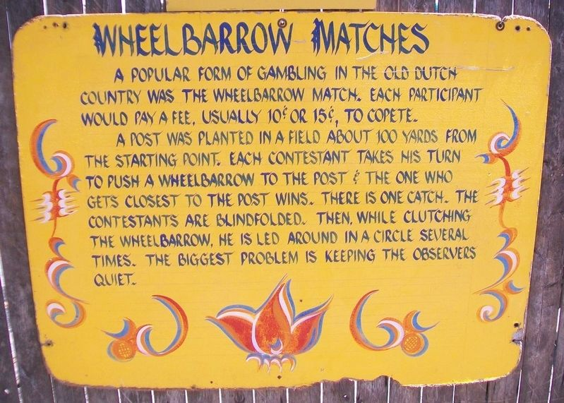 Wheelbarrow Matches Marker image. Click for full size.