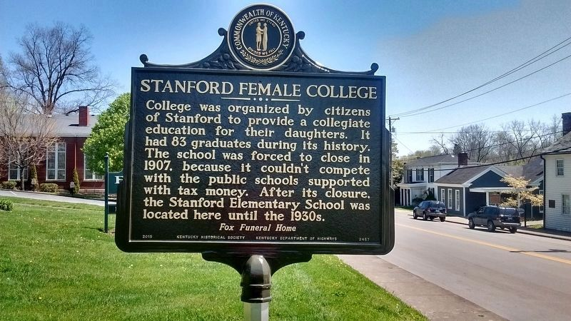 Stanford Female College Marker (Side 2) image. Click for full size.