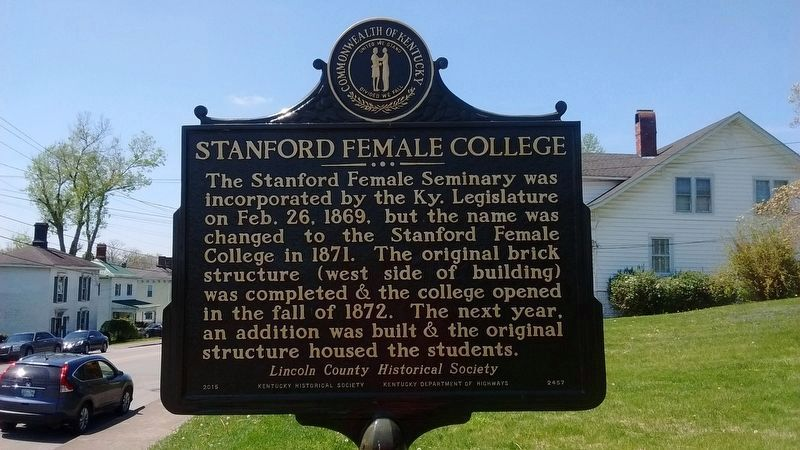 Stanford Female College Marker (Side 1) image. Click for full size.