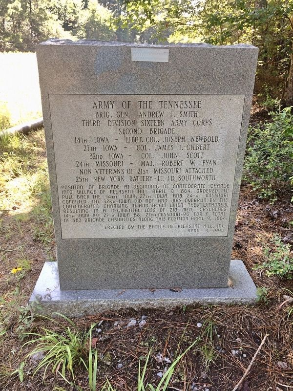 Army of the Tennessee Marker (front) image. Click for full size.