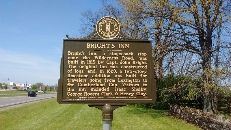 Bright's Inn Marker image. Click for full size.