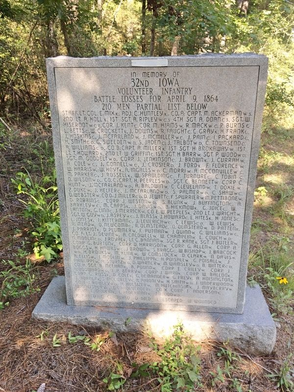 Army of the Tennessee Marker (rear) image. Click for full size.