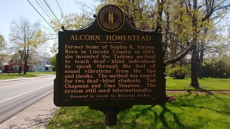 Alcorn Homestead Marker image. Click for full size.