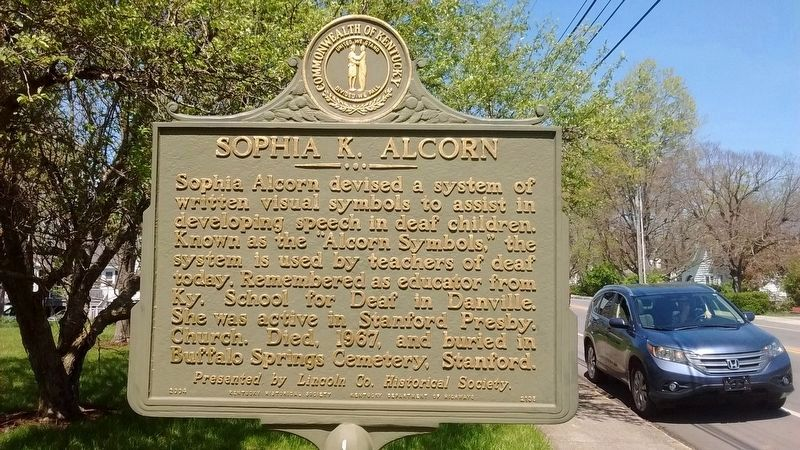 ASophia K. Alcorn Marker image, Touch for more information