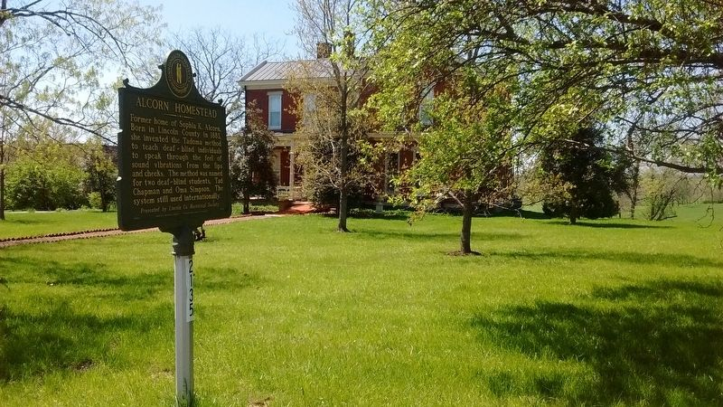 Alcorn Homestead / Sophia K. Alcorn Marker image. Click for full size.