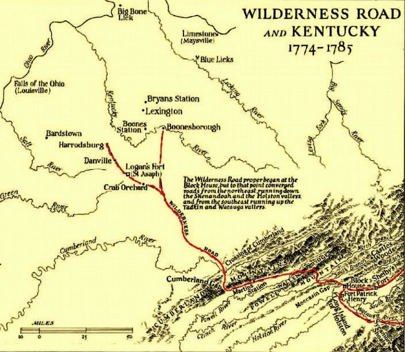 The Wilderness Road in Kentucky image. Click for full size.