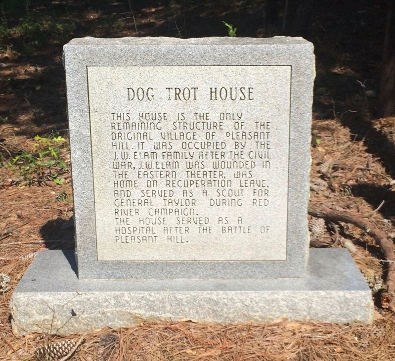 Dog Trot House Marker (front) image. Click for full size.