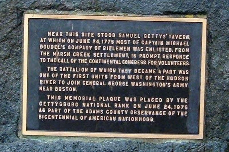 Gettys' Tavern Site Marker image. Click for full size.