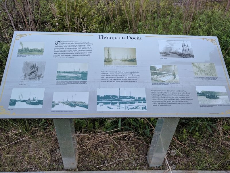 Thompson Docks Marker image. Click for full size.