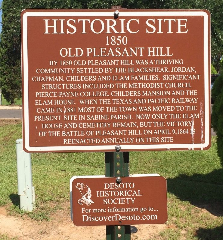Old Pleasant Hill Marker image. Click for full size.