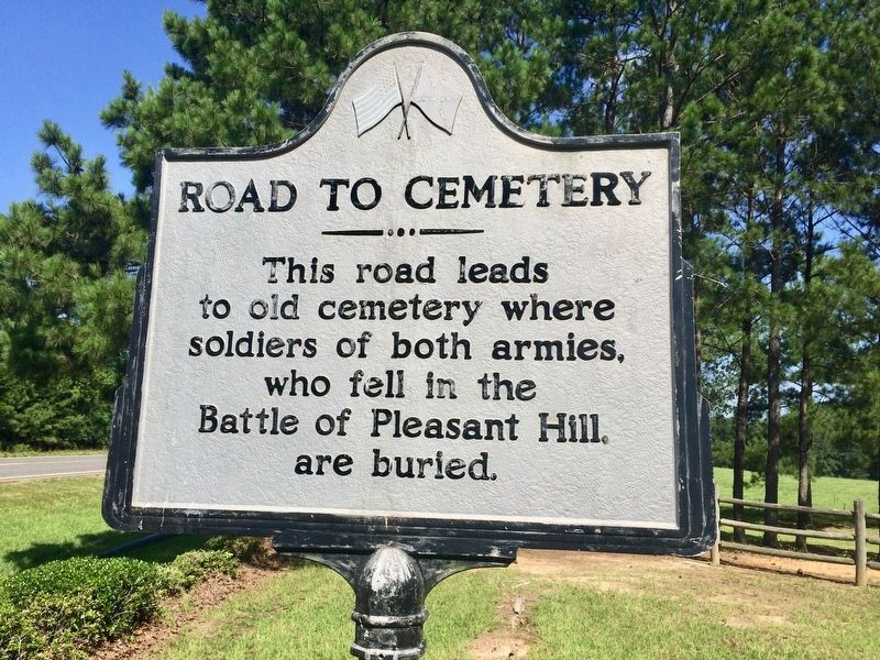 Road to Cemetery Marker image. Click for full size.