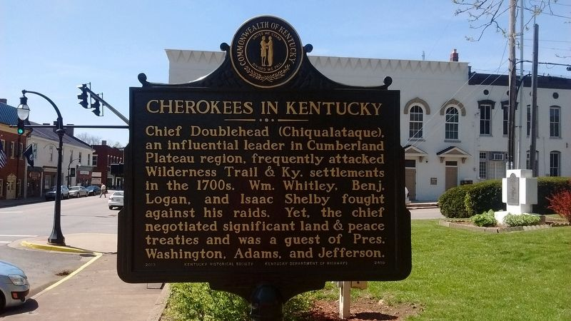 Cherokees in Kentucky Marker (Side 2) image. Click for full size.
