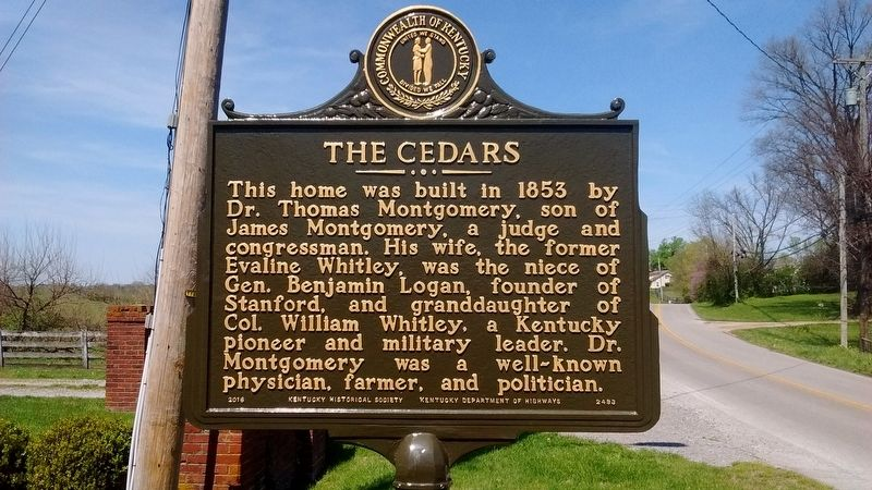 The Cedars Marker (Side 1) image. Click for full size.