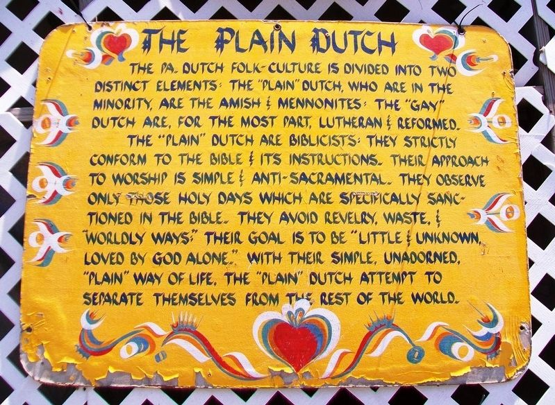 The Plain Dutch Marker image. Click for full size.