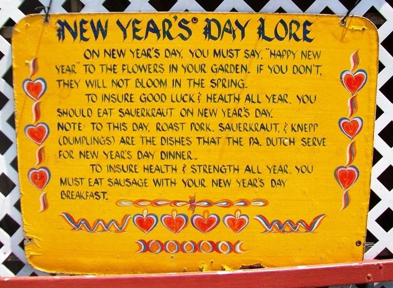 New Year's Day Lore Marker image. Click for full size.