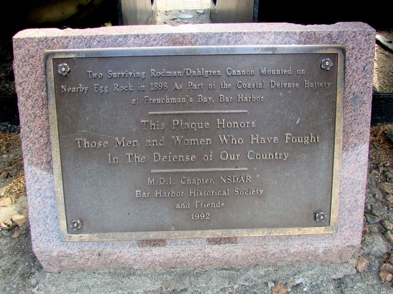 Bar Harbor Soldiers Monument Marker image. Click for full size.