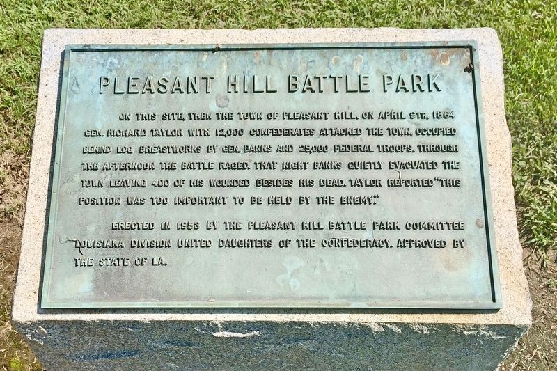 Pleasant Hill Battle Park Marker image. Click for full size.