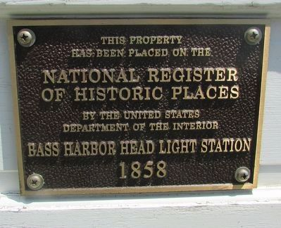 Bass Harbor Head Light Station Marker image. Click for full size.