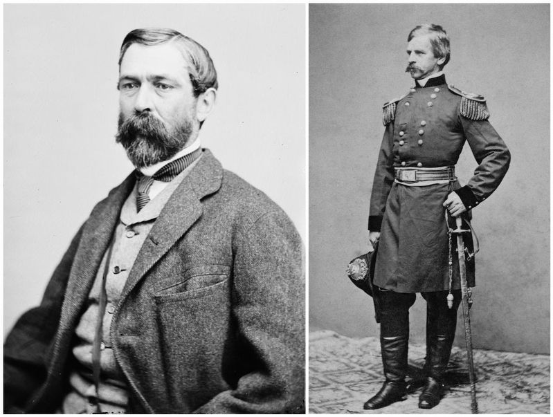 Confederate General Richard Taylor / Union General Nathaniel P. Banks image. Click for full size.