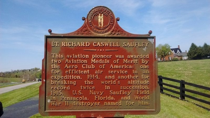 Lt. Richard Caswell Saufley Marker image. Click for full size.