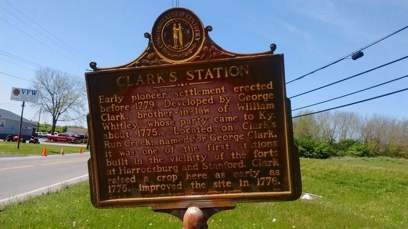 Clark's Station Marker image. Click for full size.