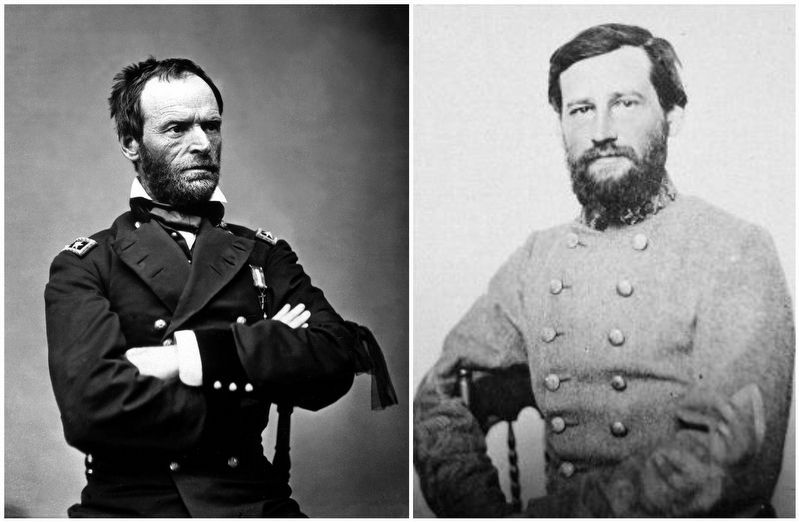 General William Tecumseh Sherman / General Stephen D. Lee image. Click for full size.