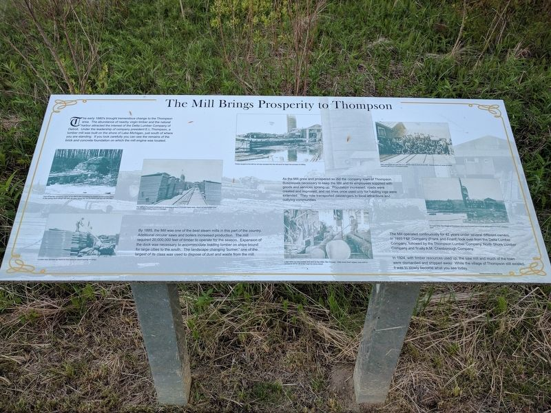 The Mill Brings Prosperity to Thompson Marker image. Click for full size.