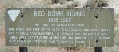 Red Dome Siding Marker image. Click for full size.