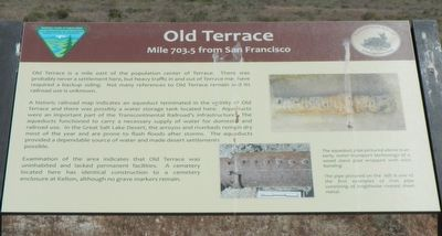 Old Terrace Marker image. Click for full size.